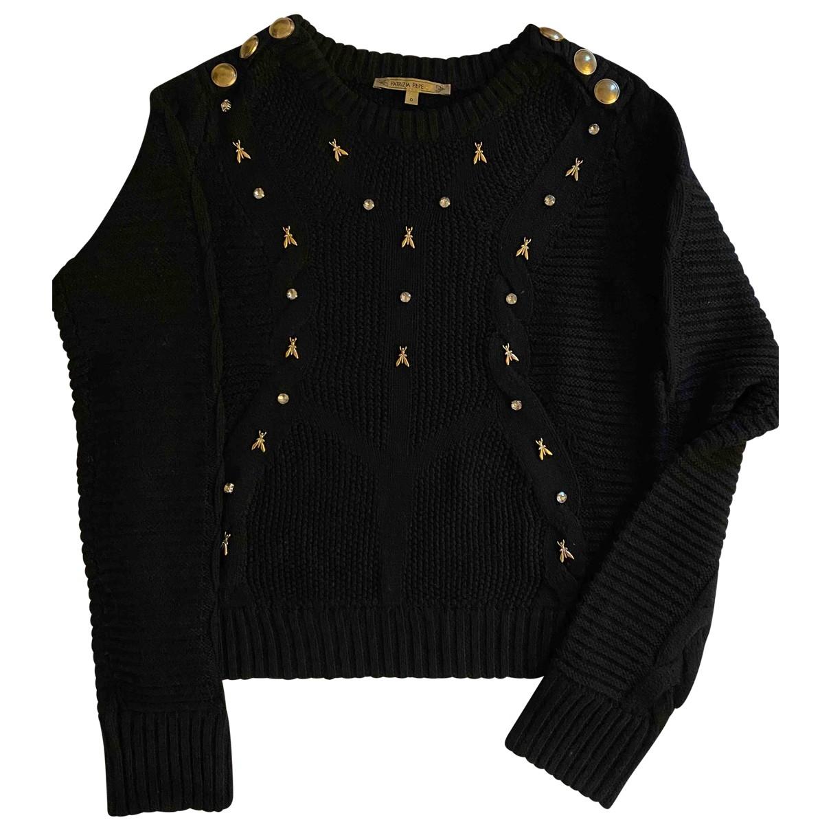 Patrizia Pepe - Pull   pour femme en laine - noir