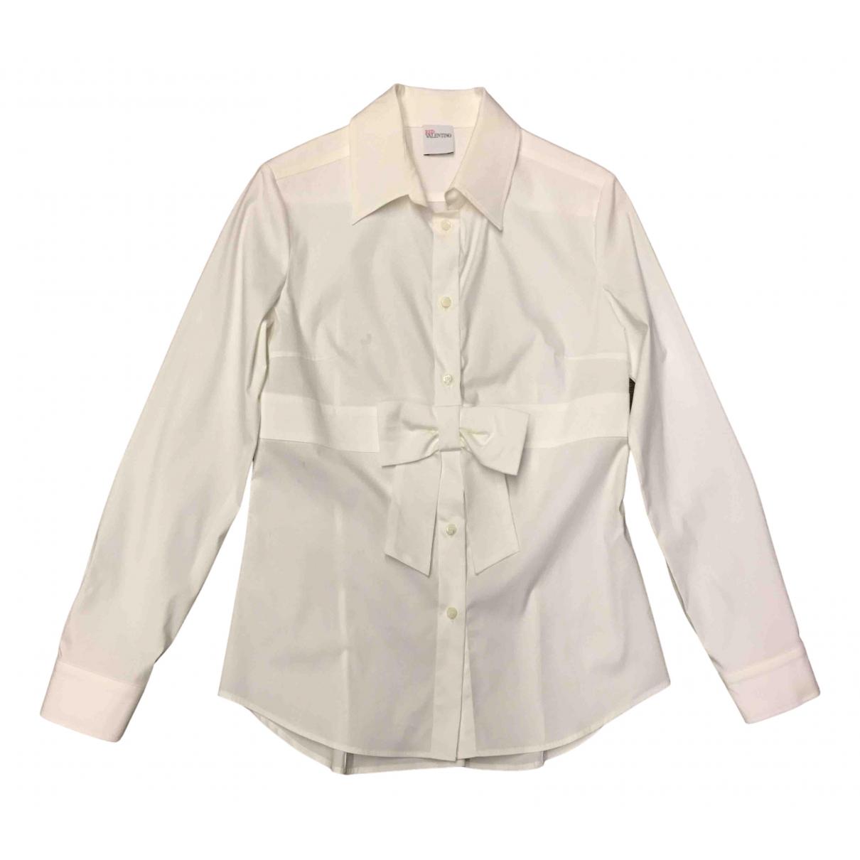 Red Valentino Garavani - Top   pour femme en coton - blanc