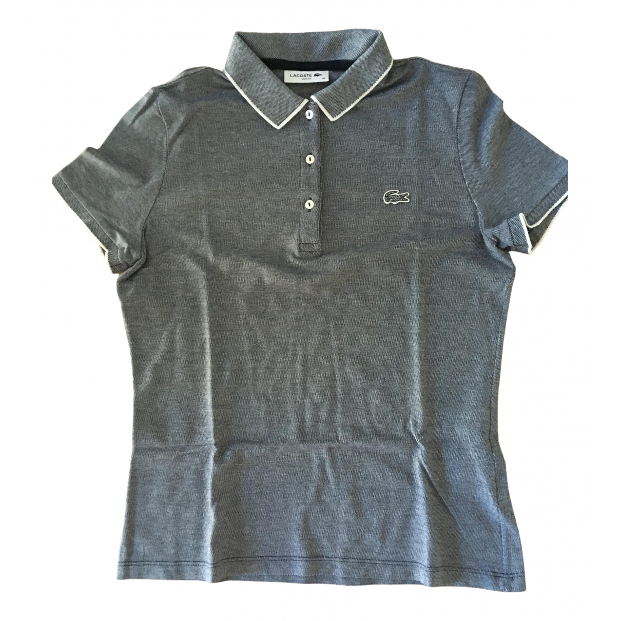 Lacoste - Top   pour femme en coton - bleu