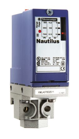 Telemecanique Sensors Pressure Sensor for Hydraulic Fluid , 70bar Max Pressure Reading Relay