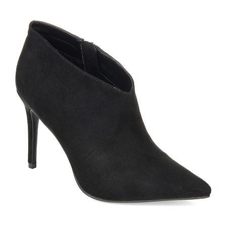 Journee Collection Womens Demmi Stiletto Heel Booties, 7 1/2 Medium, Black