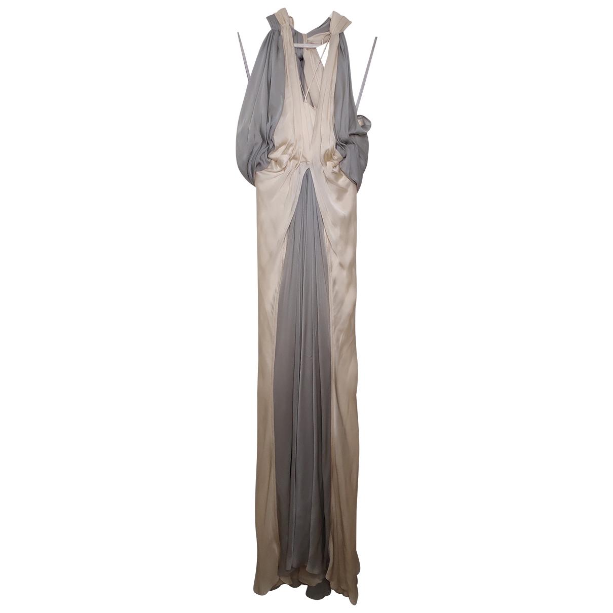 Donna Karan - Robe   pour femme en soie - beige