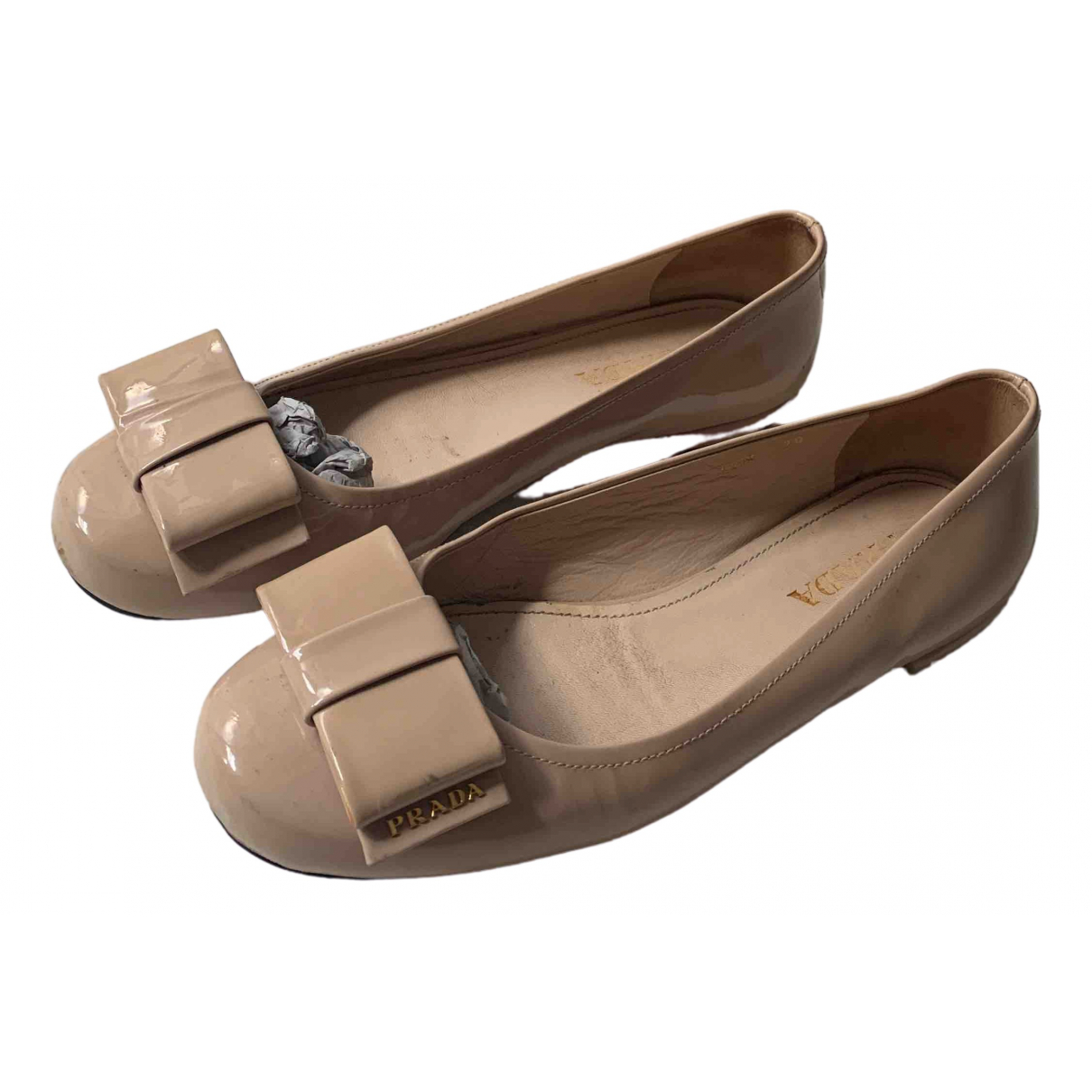 Prada \N Pink Leather Ballet flats for Women 39 IT