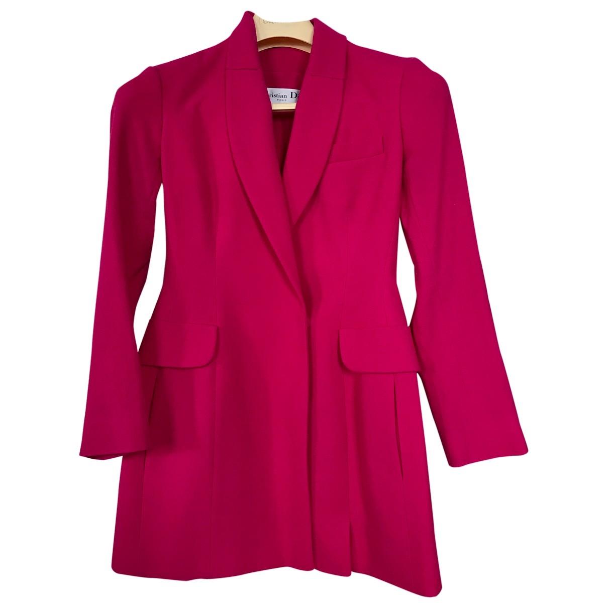 Dior - Manteau   pour femme en laine - rose