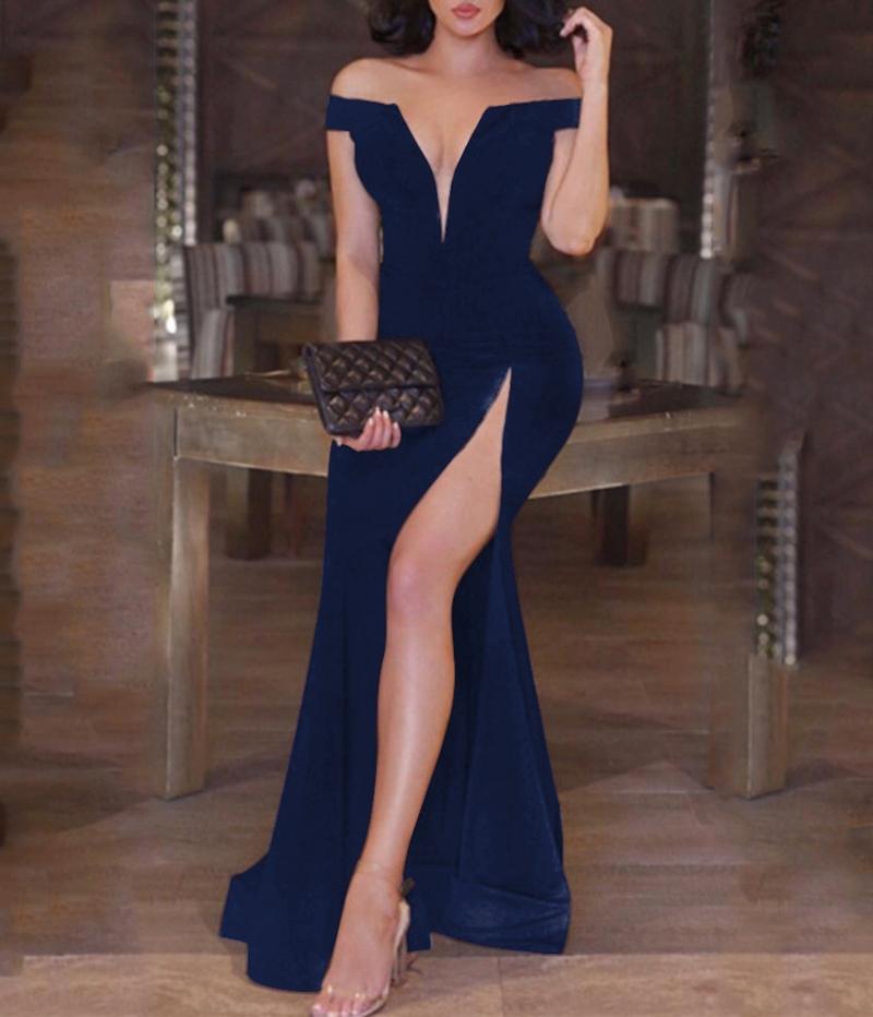 Ericdress Off-the-Shoulder Split-Front Sexy Evening Dress