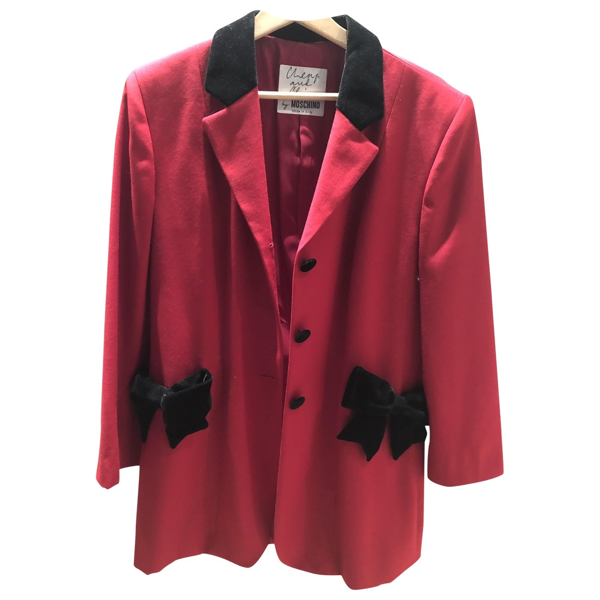 Moschino Cheap And Chic \N Jacke in  Rot Baumwolle