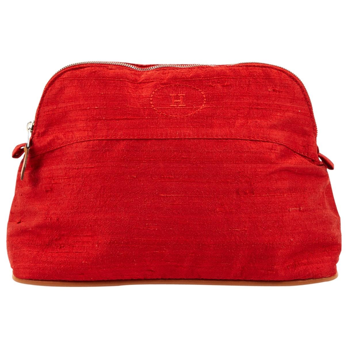 Hermes - Petite maroquinerie   pour femme en soie - rouge