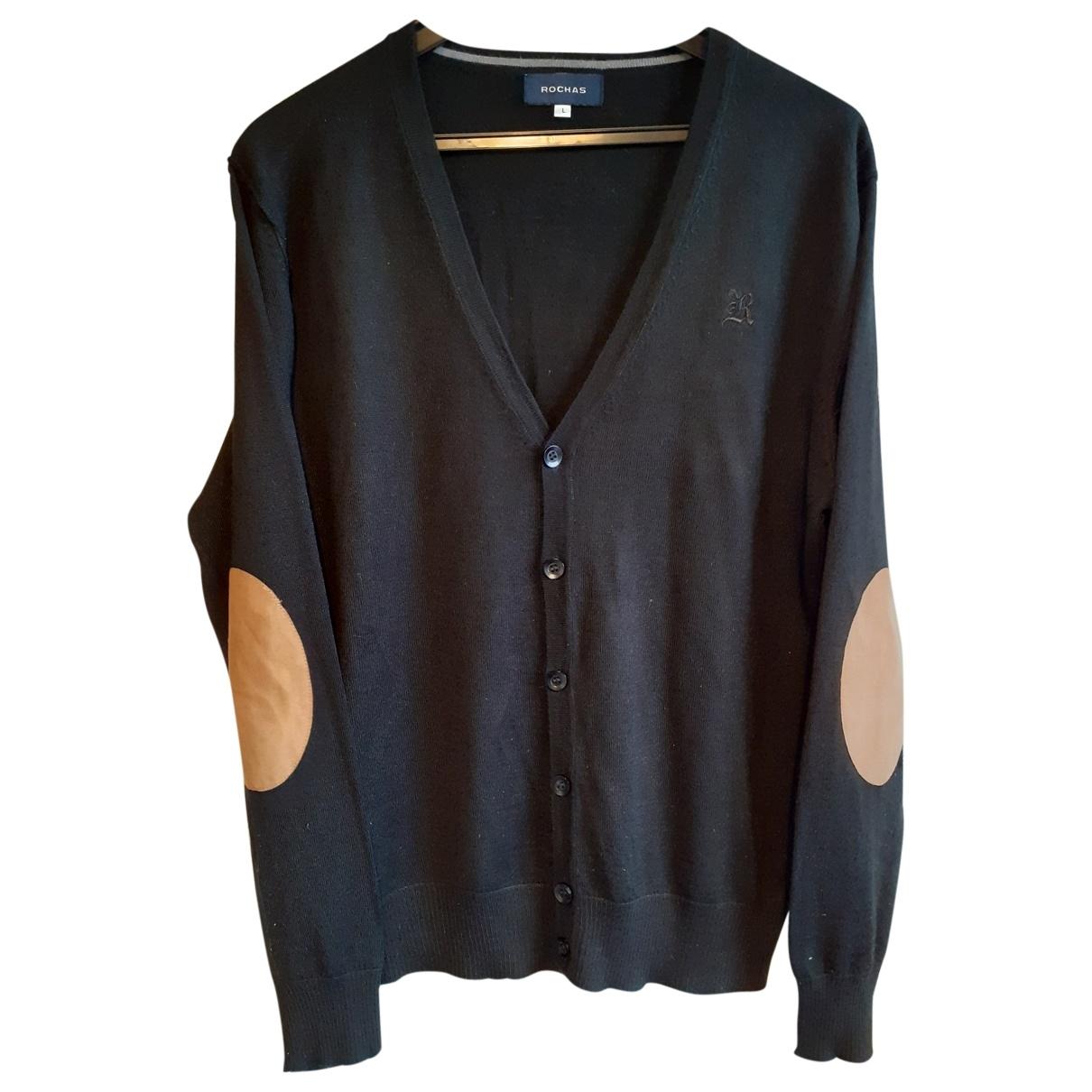 Rochas \N Pullover in  Schwarz Wolle