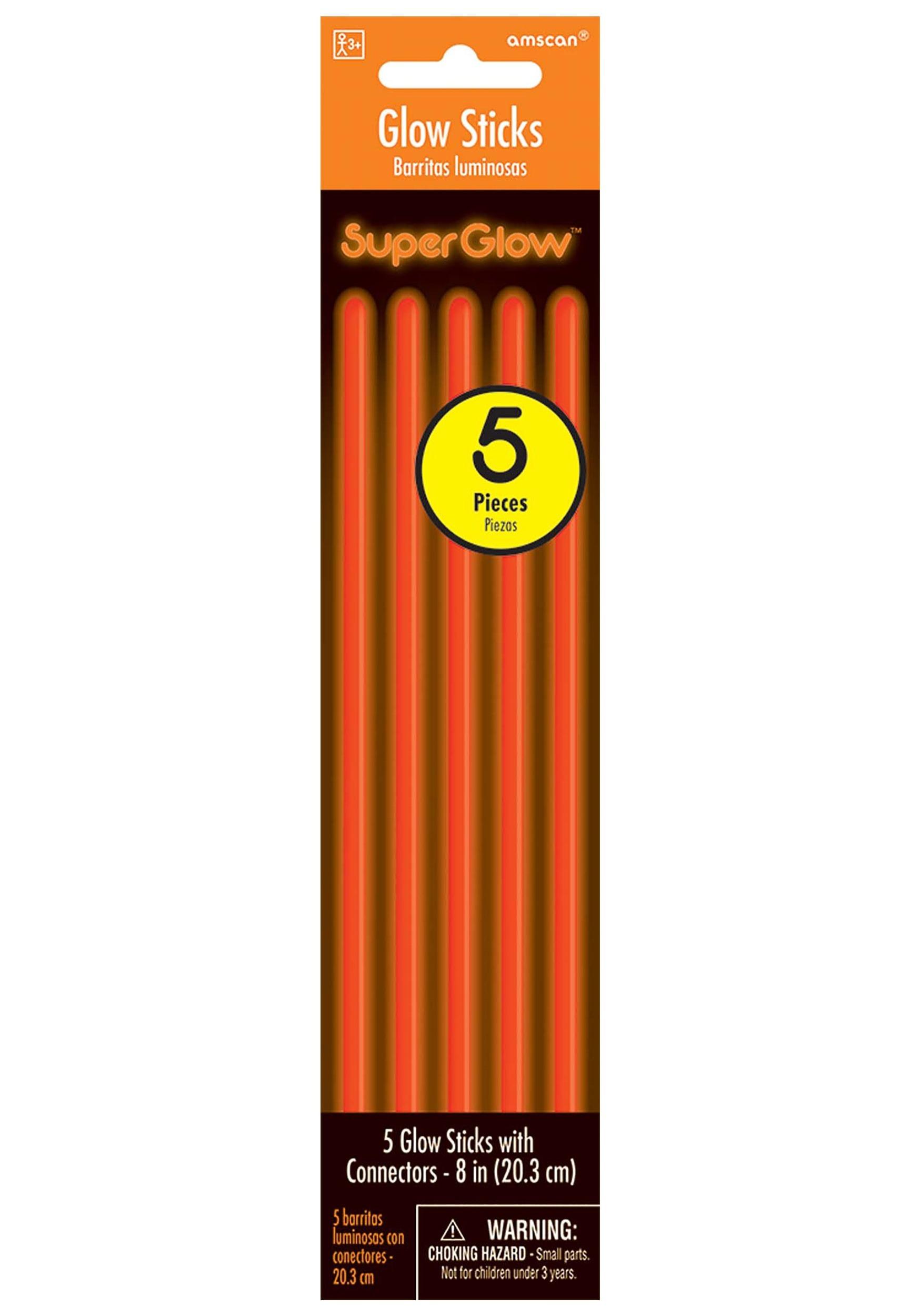 5 Pack of Orange Glowsticks - 8