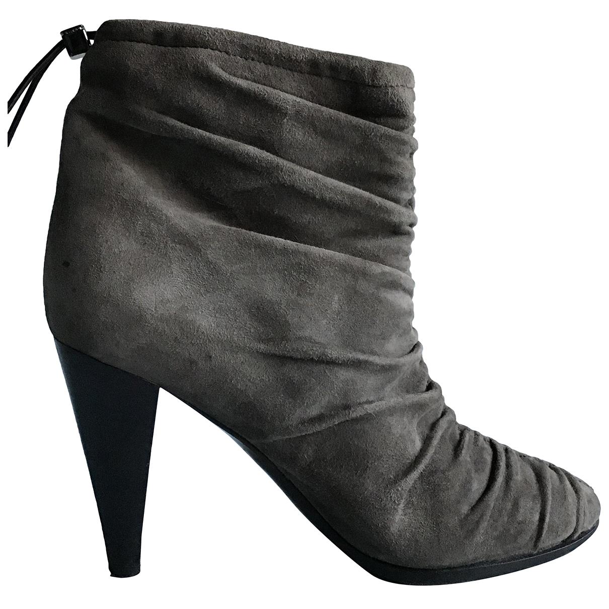 Louis Vuitton - Boots   pour femme en suede - vert
