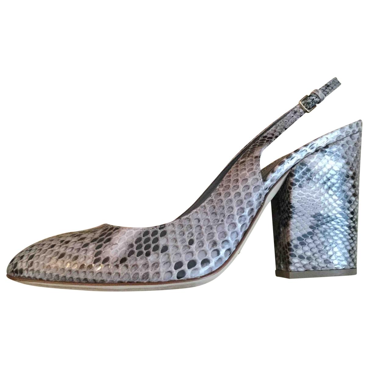 Sergio Rossi \N Multicolour Python Heels for Women 37.5 EU
