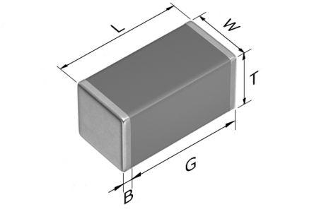 TDK 1206 (3216M) 10nF Multilayer Ceramic Capacitor MLCC 450V dc ±5% SMD C3216C0G2W103J160AA (2000)
