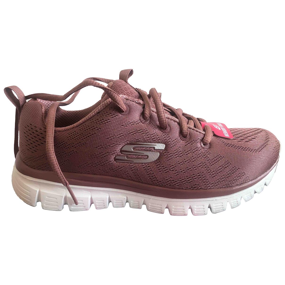 Skechers - Baskets   pour femme en caoutchouc - rose