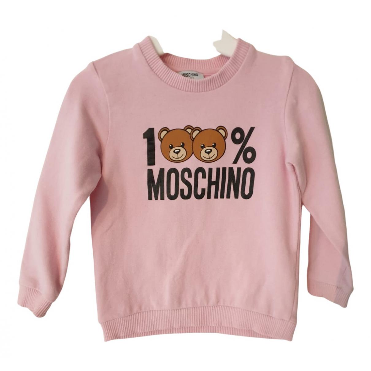 Moschino - Pull   pour enfant en coton - rose
