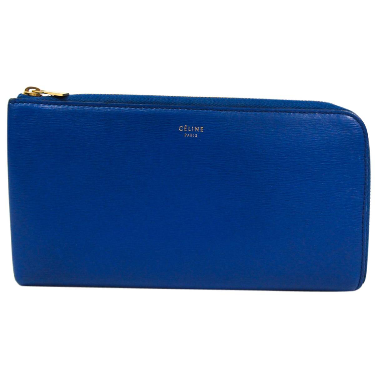Celine - Portefeuille   pour femme en cuir - bleu
