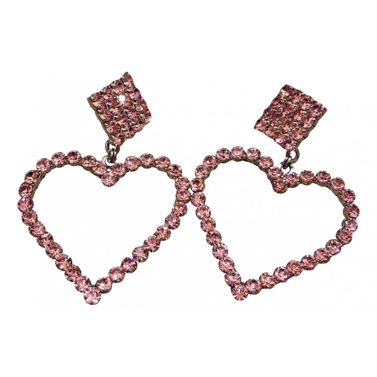 Alessandra Rich - Boucles doreilles   pour femme en cristal - rose