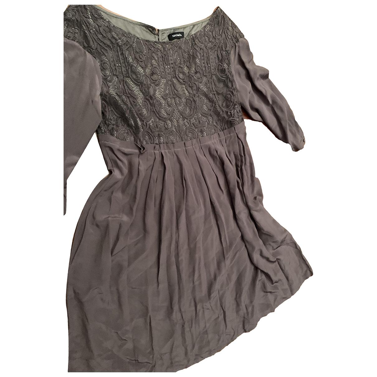 Max & Co \N Kleid in  Grau Seide
