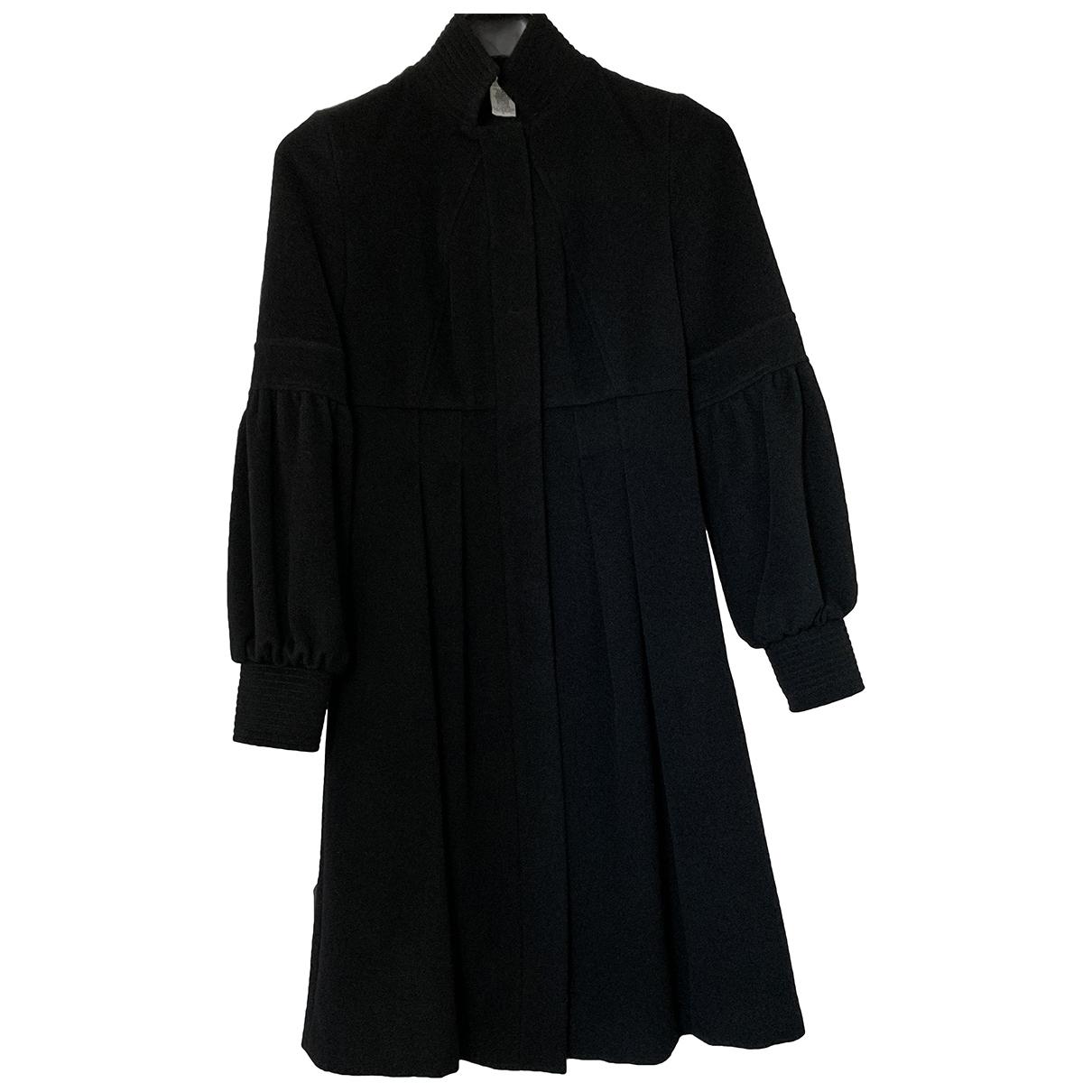 Diane Von Furstenberg \N Black Wool coat for Women 1 US