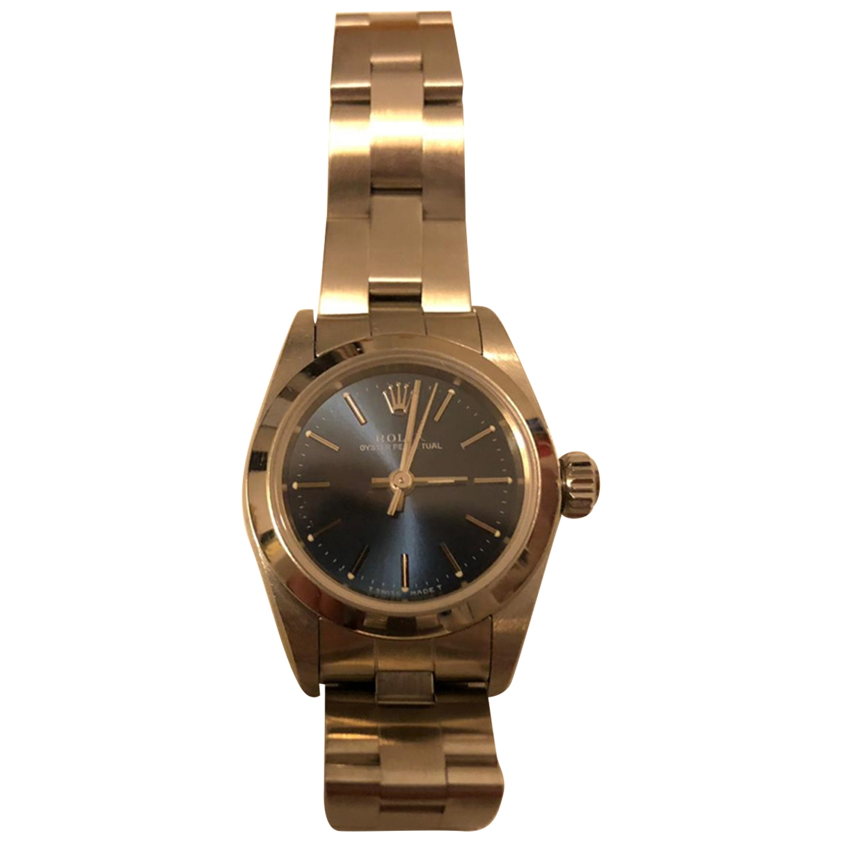 Rolex Lady Oyster Perpetual 26mm Blue Steel watch for Women \N