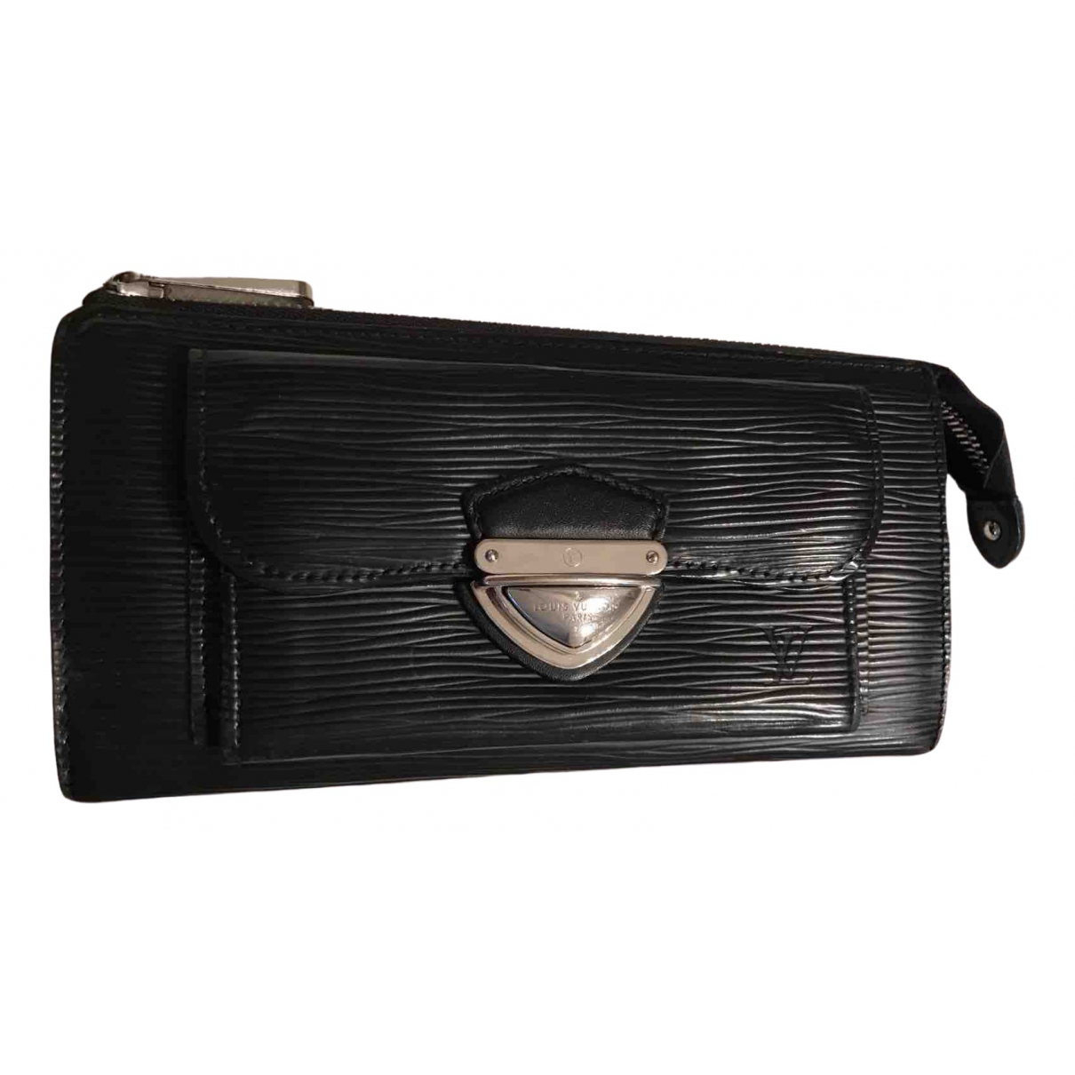 Louis Vuitton - Portefeuille   pour femme en cuir - noir