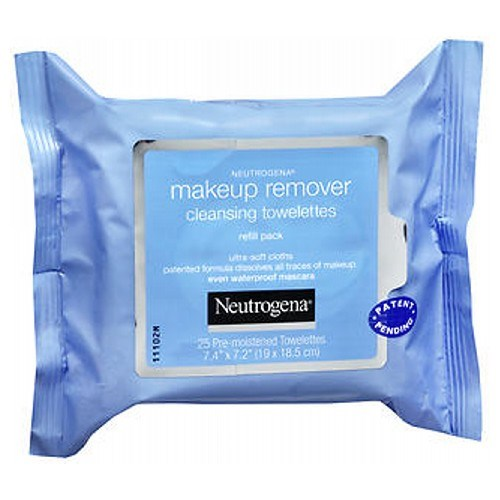 Neutrogena Makeup Remover Cleansing Towelettes Refill Pack 25 each by Neutrogena