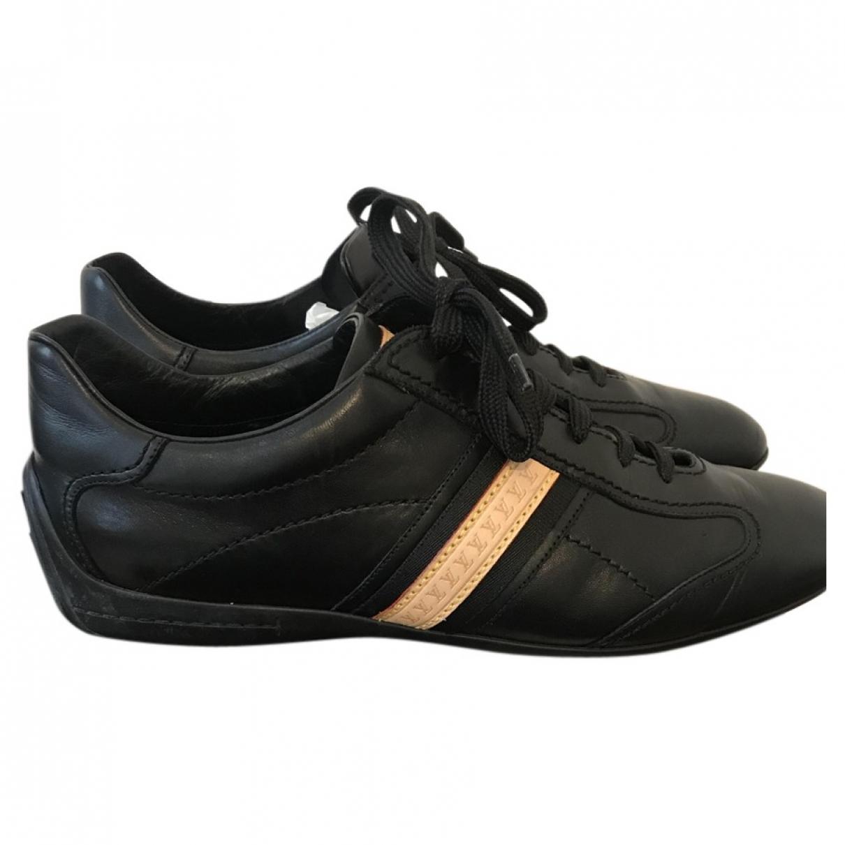 Louis Vuitton \N Black Leather Lace ups for Men 40.5 EU