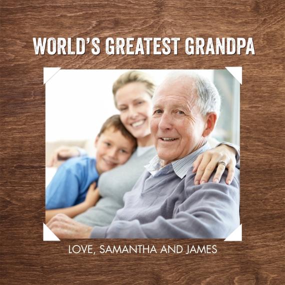 Family 16x16 Square Throw Pillow, Gift -Pillow Grandpa by Tumbalina