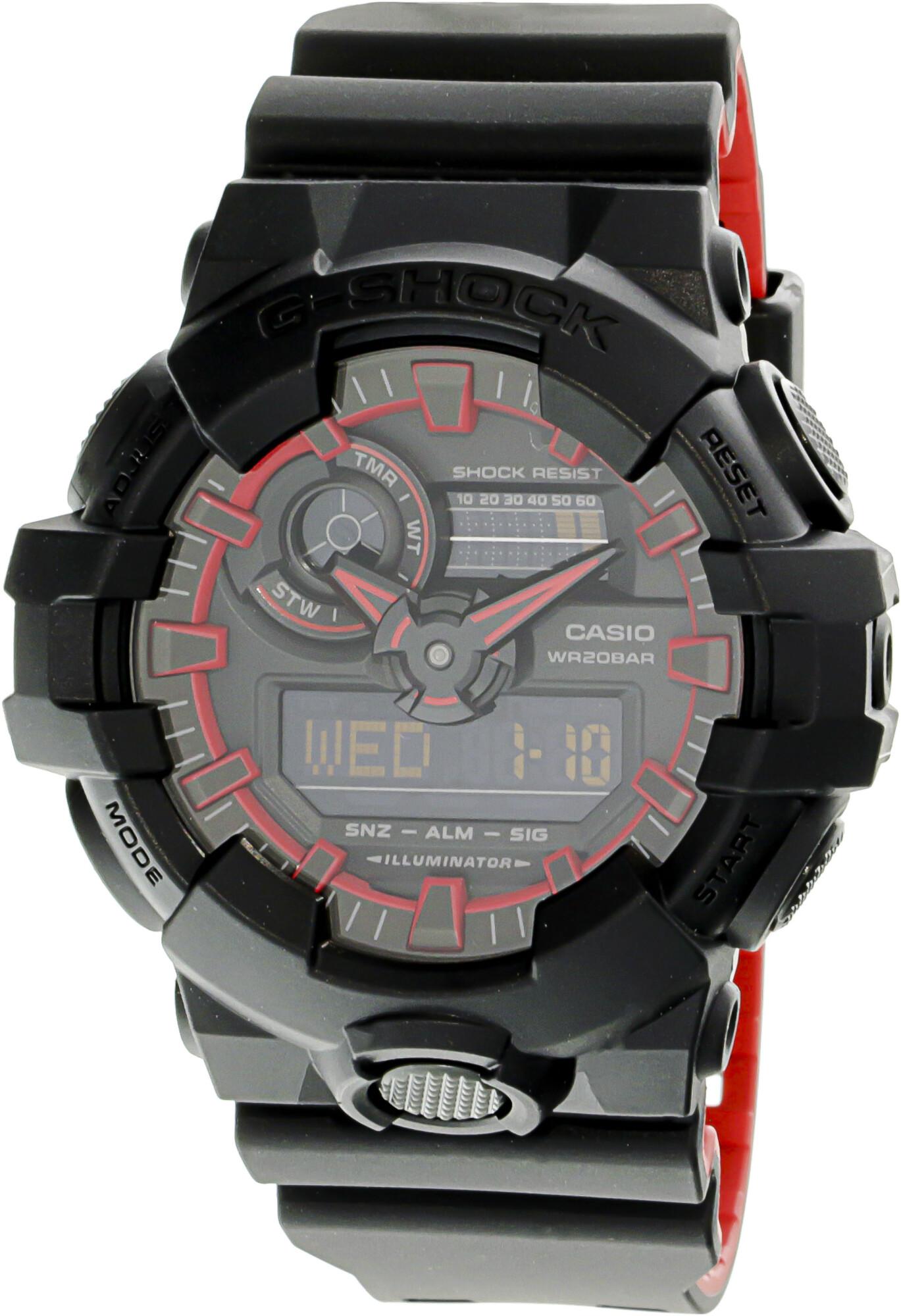 Casio Mens G-Shock GA700SE-1A4 Black Resin Japanese Quartz Sport Watch