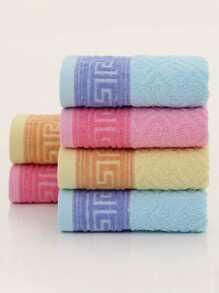 1pc Geometric Pattern Random Face Towel