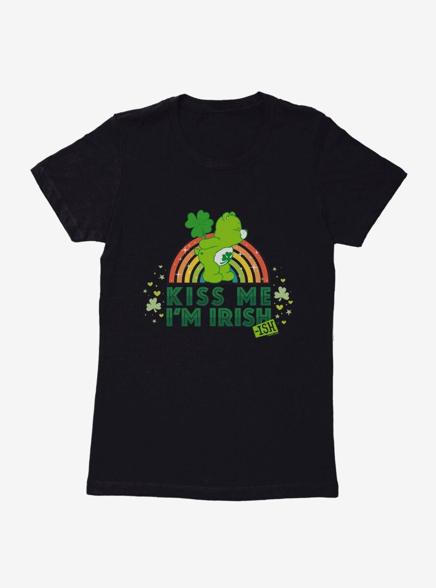 Care Bears Kiss Me I'm Irish Colored Rainbow Womens T-Shirt