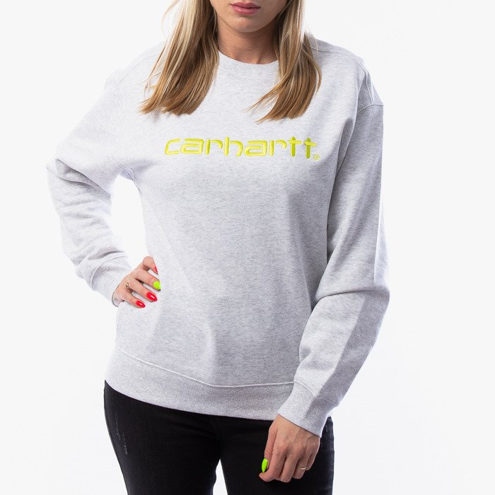 Carhartt WIP W Sweatshirt I027475 ASH HEATHER/LIME