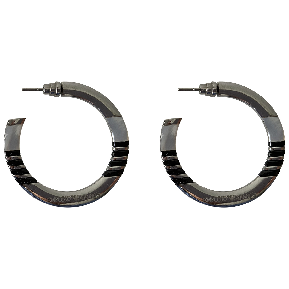 Emporio Armani - Boucles doreilles   pour femme en metal - argente