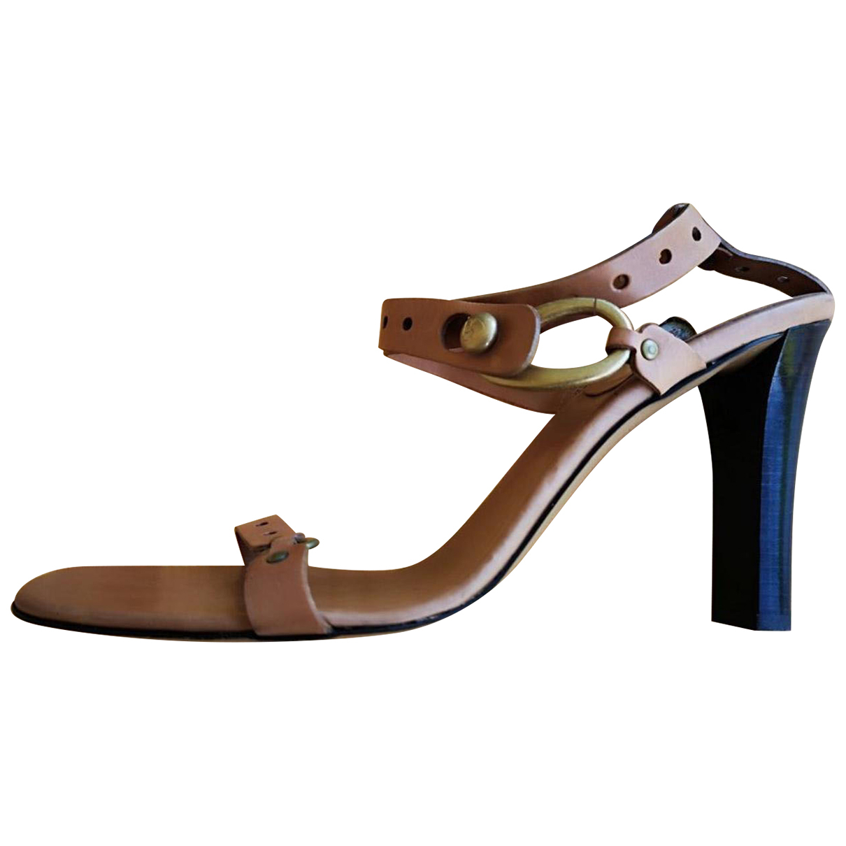 Bally N Brown Leather Sandals for Women 41.5 EU