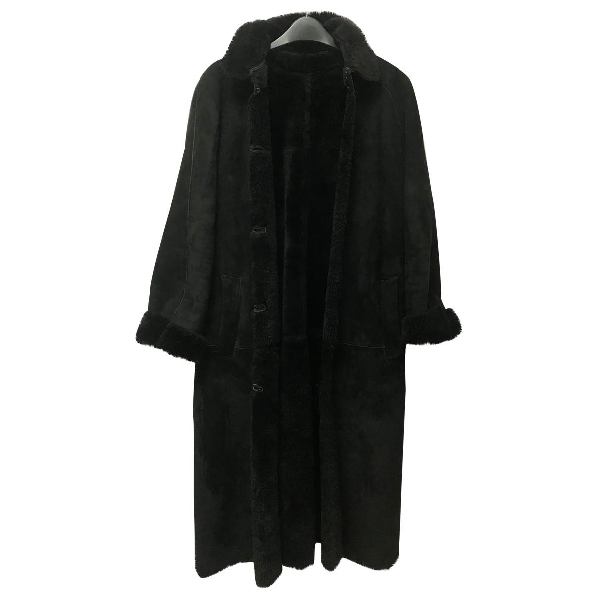 Burberry \N Black Shearling coat for Women 6 UK