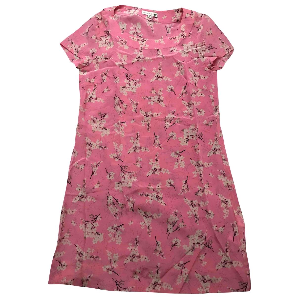 - Robe Hippie Chic pour femme en soie - rose