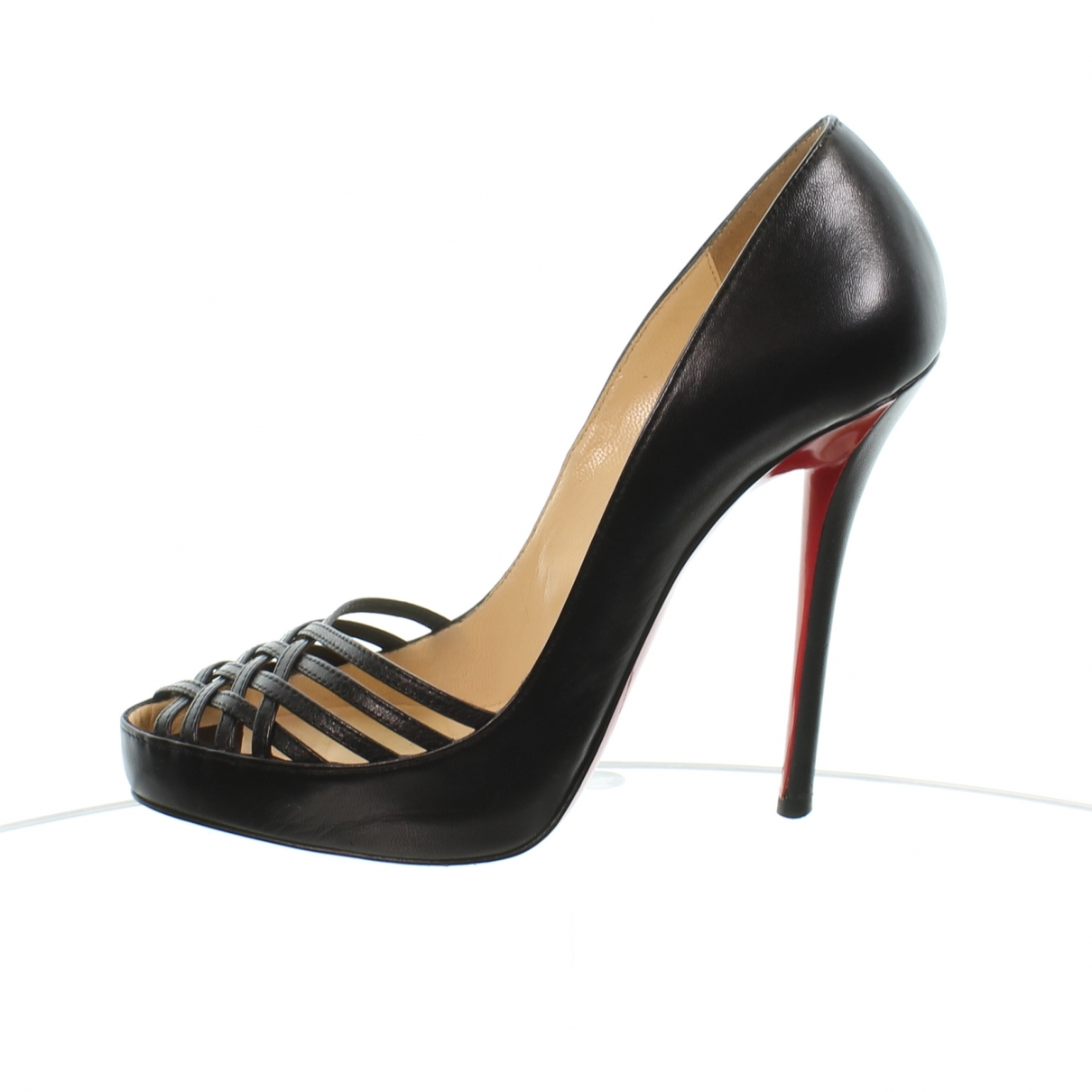 Christian Louboutin \N Black Leather Heels for Women 38 EU