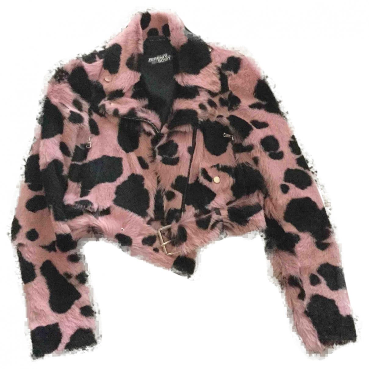 Jeremy Scott - Veste   pour femme en fourrure - rose