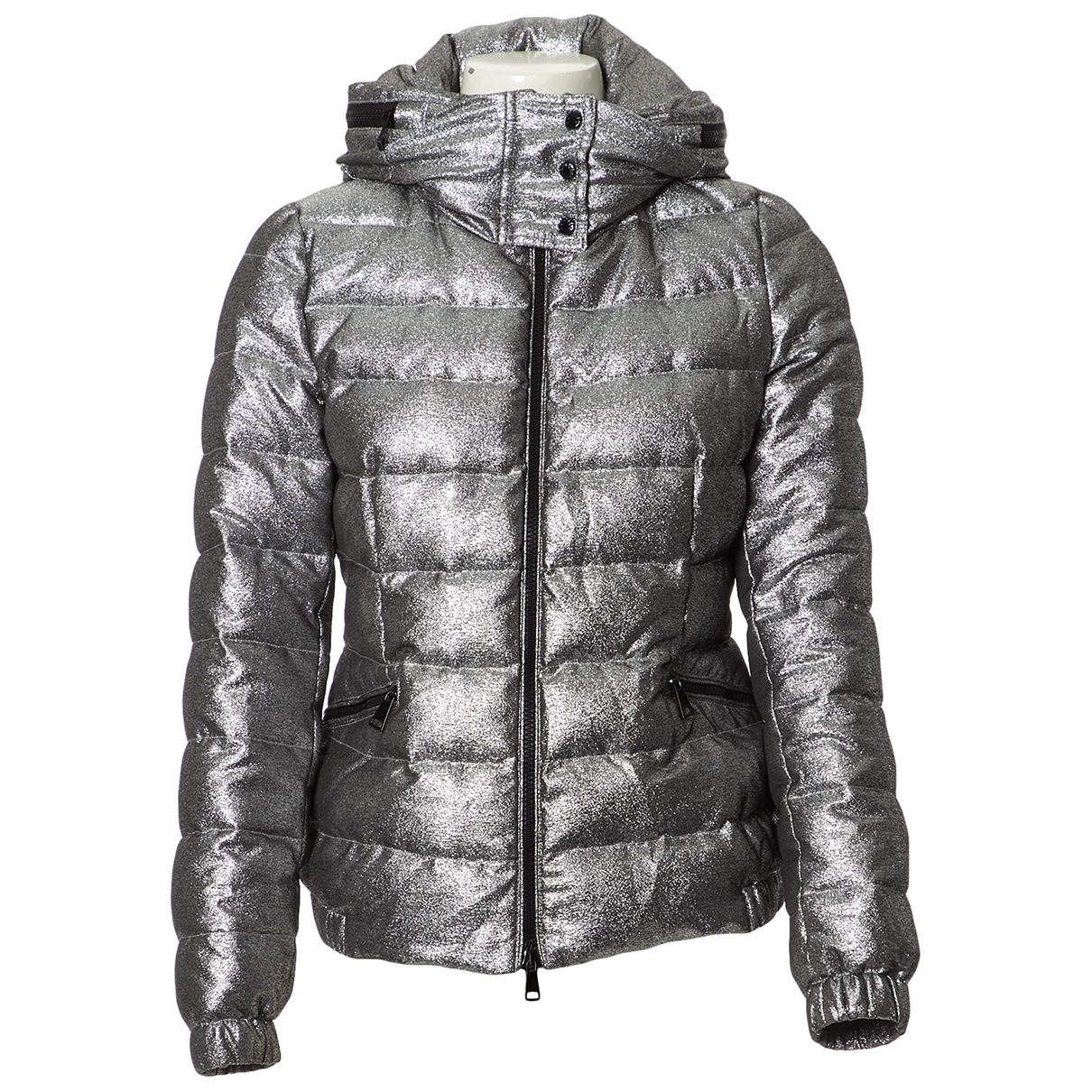 Moncler Hood Maentel in  Silber Polyester
