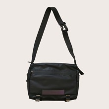 Men Reflective Detail Crossbody Bag