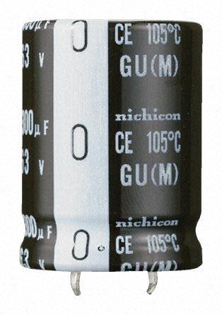 Nichicon 1000μF Electrolytic Capacitor 200V dc, Through Hole - LGU2D102MELA