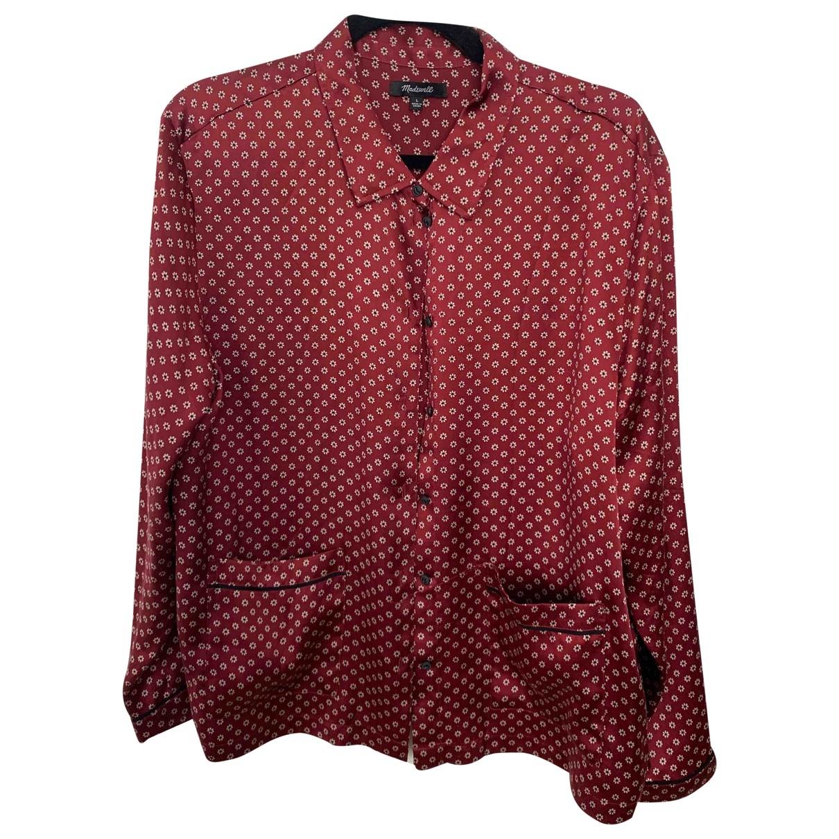 Madewell - Top   pour femme en soie - bordeaux
