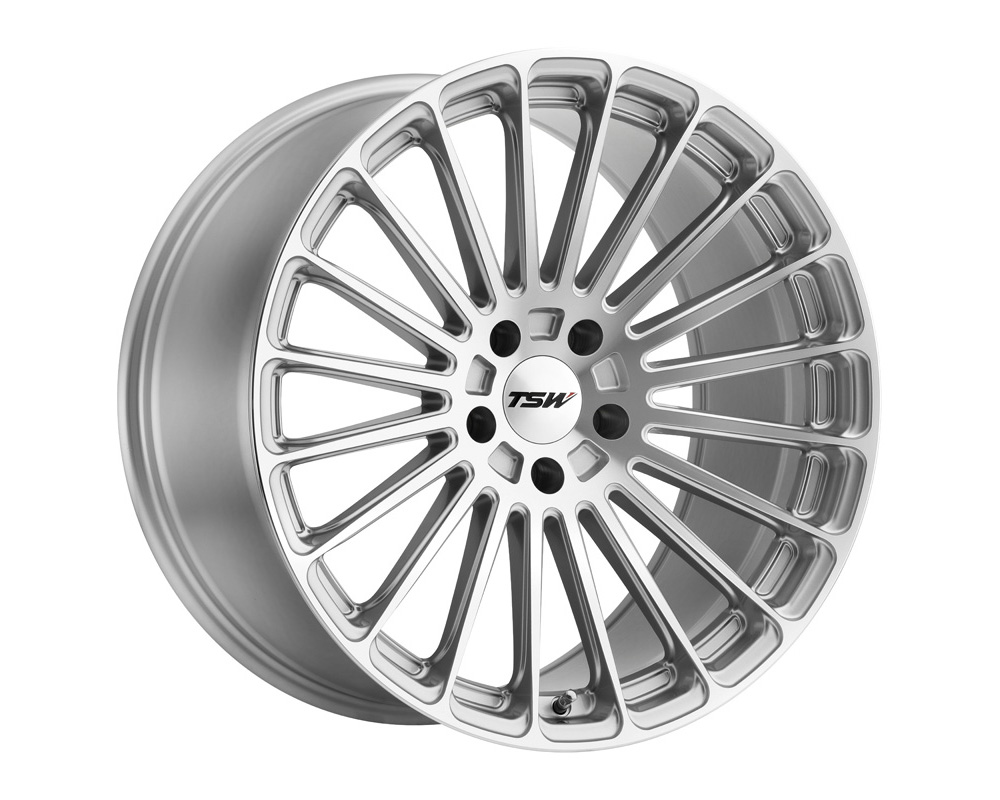 TSW Turbina Wheel 19x8.5 5x112 32mm Titanium Silver w/ Mirror Cut Face