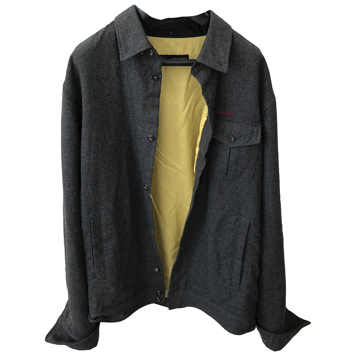 Dsquared2 \N Anthracite Wool jacket  for Men 48 IT