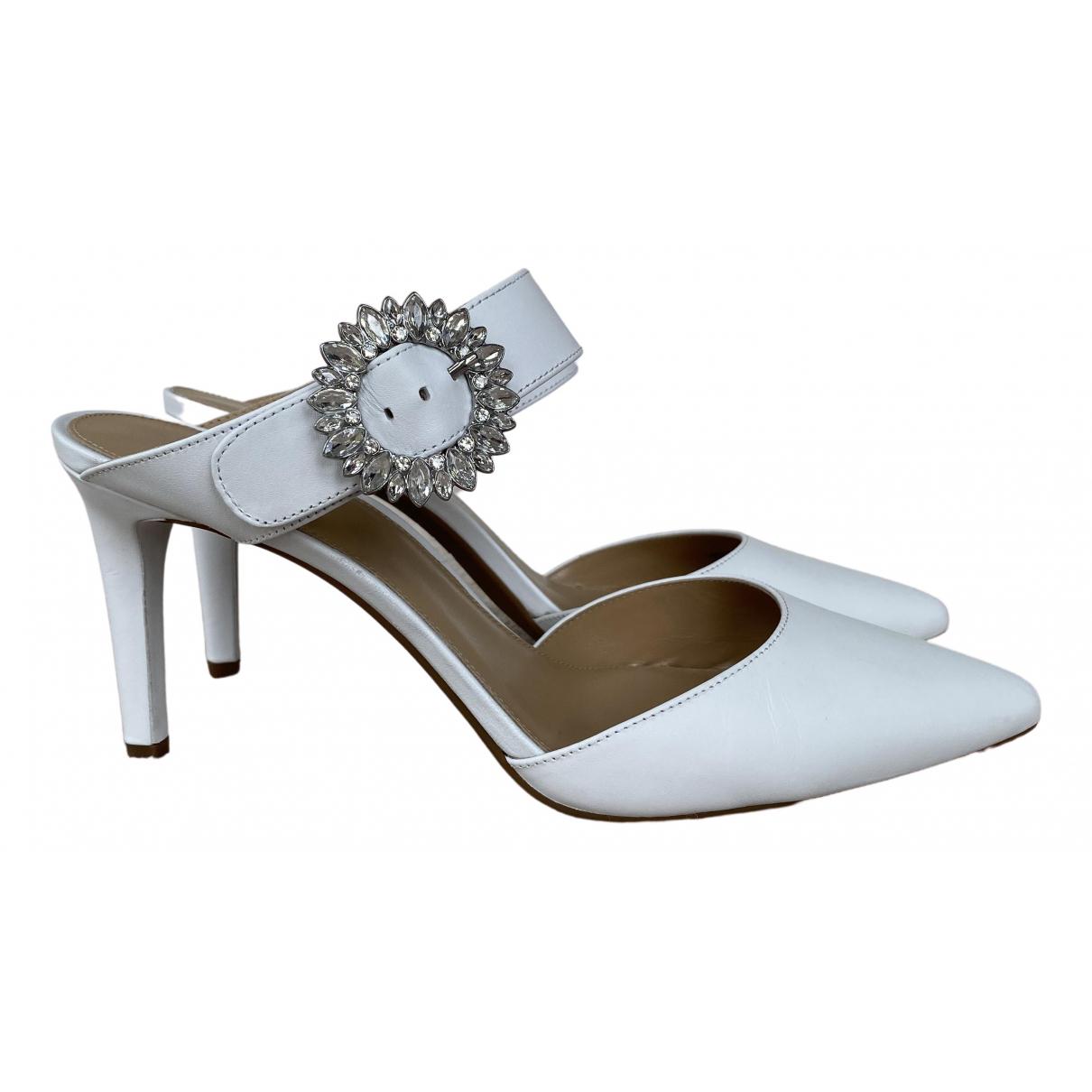 Michael Kors - Escarpins   pour femme en cuir - blanc