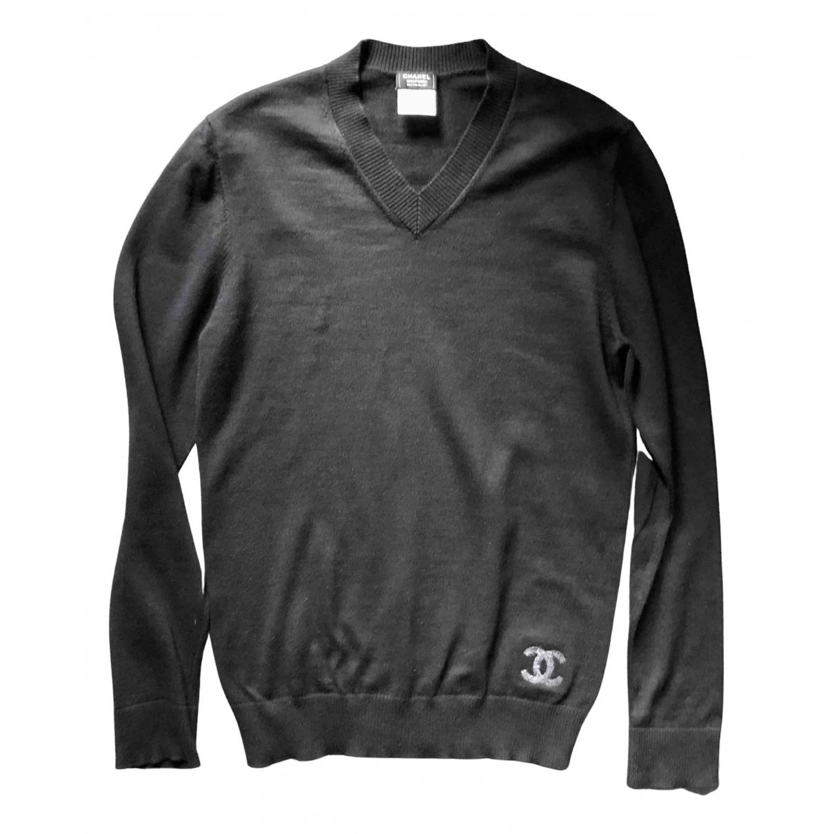 Chanel - Pull   pour femme en laine - noir