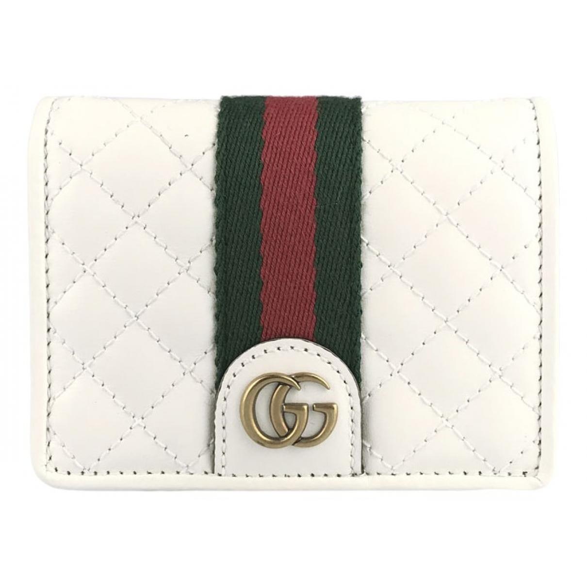 Gucci \N Portemonnaie in  Weiss Leder