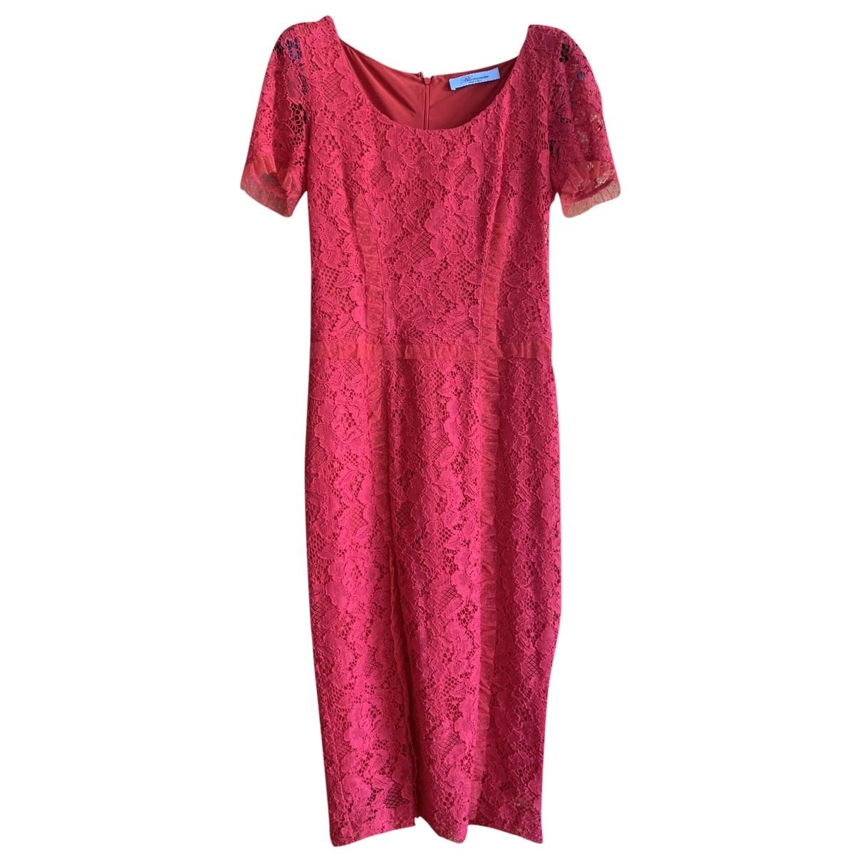 Blumarine - Robe   pour femme en dentelle - rouge
