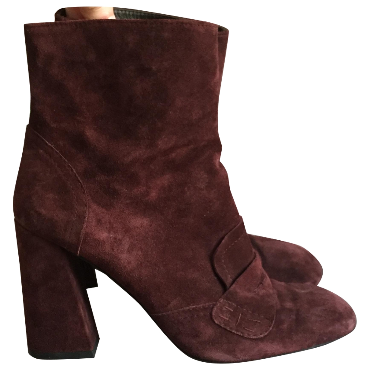 Stuart Weitzman \N Brown Suede Ankle boots for Women 8.5 US
