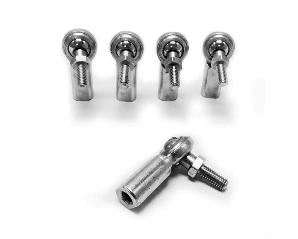 Steinjager J0014805 Inch Rod Ends Female Steel Housing, 2 Piece 3/8-24 LH Studded 5 Pack