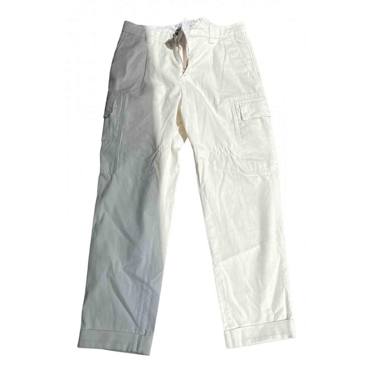 Brunello Cucinelli N White Cotton Trousers for Men 48 IT